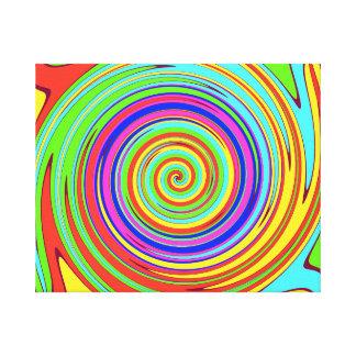 Lona espiral del remolino del color del vestíbulo impresiones en lona estiradas
