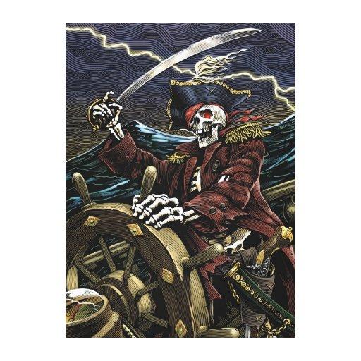 Lona esquelética del pirata impresiones en lona