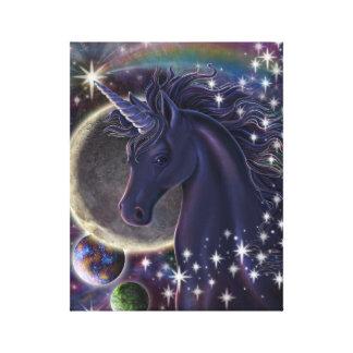 Lona estelar del unicornio impresiones en lona