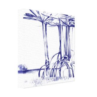 Lona estirada árbol azul del mangle lona estirada galerías