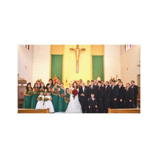 Lona estirada boda color de rosa y de Enrique Impresión En Lienzo Estirada