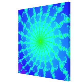 Lona estirada con el fractal de Mandelbrot Impresión De Lienzo