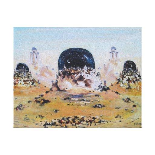 Lona estirada de la edición limitada de las noches impresiones en lienzo estiradas