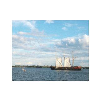 Lona estirada del velero impresiones de lienzo