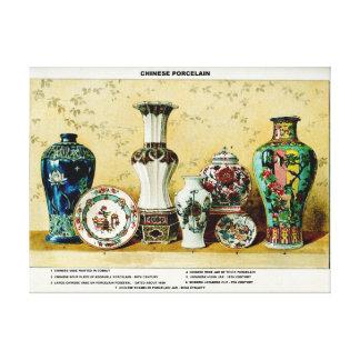 Lona estirada ejemplo chino de la porcelana impresiones en lona estiradas