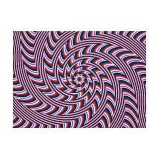Lona estirada espiral impresión en lona estirada