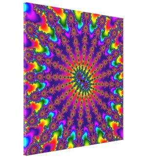 Lona estirada explosión del fractal del arco iris lona estirada galerías