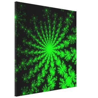 Lona estirada explosión extranjera del fractal lienzo envuelto para galerias