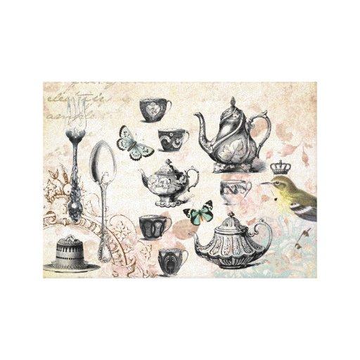 Lona estirada fiesta del té francesa del jardín lona envuelta para galerias