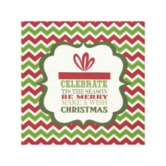 lona estirada regalo de Navidad moderno del vintag Impresión En Lona Estirada