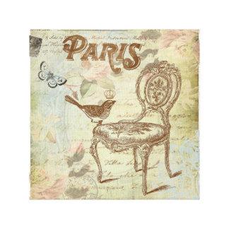 Lona estirada silla francesa del vintage impresion de lienzo