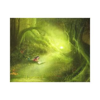 lona estirada tierra del verde de la suposición impresión en lona