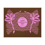 Lona feliz rosada dulce del día del chocolate impresiones en lona