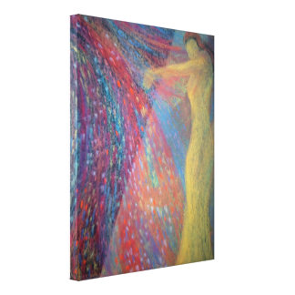 lona figurewrapped semi-abstracta lona envuelta para galerias