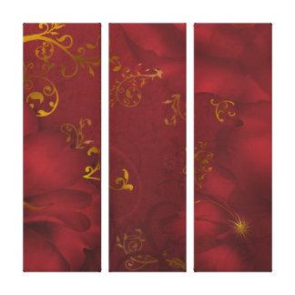 Lona floral del triple del arte de la fantasía de impresiones de lienzo