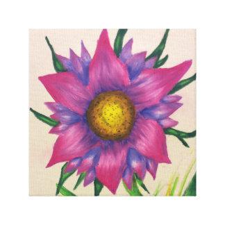 Lona floral lienzo envuelto para galerías