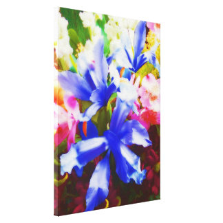 Lona floral linda. Flores Impresiones En Lona Estiradas