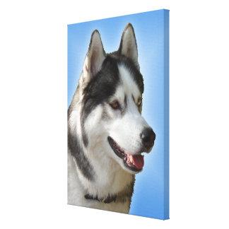 Lona fornida estirada impresión fornida del perro