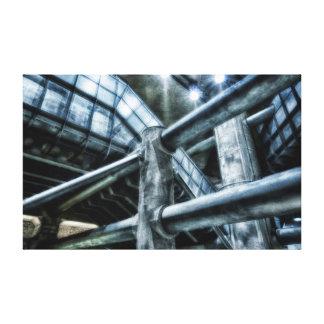 Lona futurista subterráneo del paisaje de la metró lona envuelta para galerias