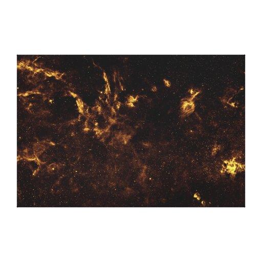 Lona galáctica del espacio impresión en lienzo
