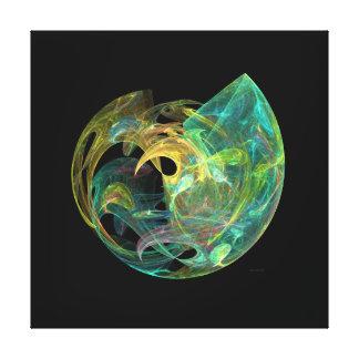 Lona Galería-lista del orbe del ópalo del mar de Impresión En Lienzo Estirada