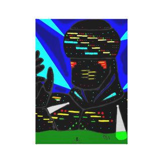 Lona gigante del robot impresiones en lienzo estiradas