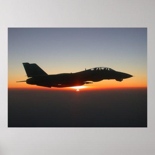 Lona grande de Afganistán del avión de combate de  Póster