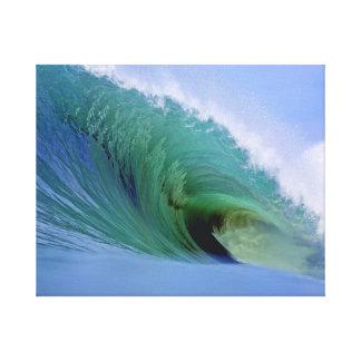 Lona grande de la isla de Nias de la onda de fract Lona Envuelta Para Galerías