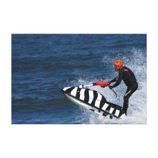 Lona grande del deporte acuático del esquí del jet impresiones de lienzo