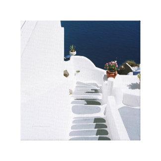 Lona griega de las islas-Santorini Impresión En Lienzo