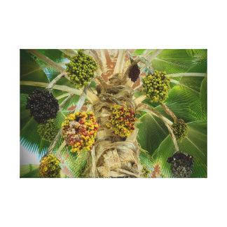 Lona hawaiana tropical de la palmera impresion en lona