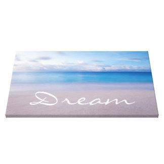 Lona ideal de la pared de la playa impresion de lienzo