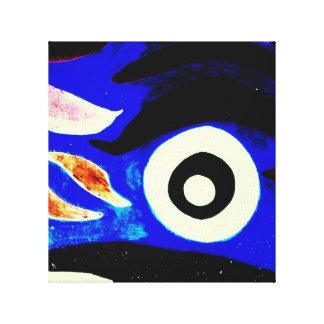Lona intrépida abstracta artsy del diseño del colo lona envuelta para galerías