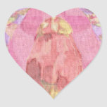 Lona lisa pegatina en forma de corazón