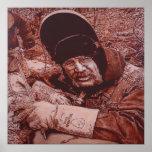 Lona mate 52X52 del soldador de la tubería Unframe Poster