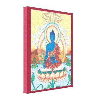 LONA - medicina Buda - Buda del poder curativo Lona Envuelta Para Galerias