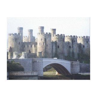 Lona medieval del castillo de Conwy Impresiones De Lienzo