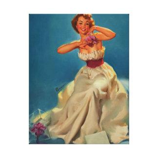 Lona modela del chica de Gil Elvgren del baile de  Lienzo Envuelto Para Galerías