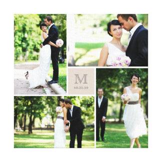 Lona moderna del collage de la foto del boda del impresión en lienzo