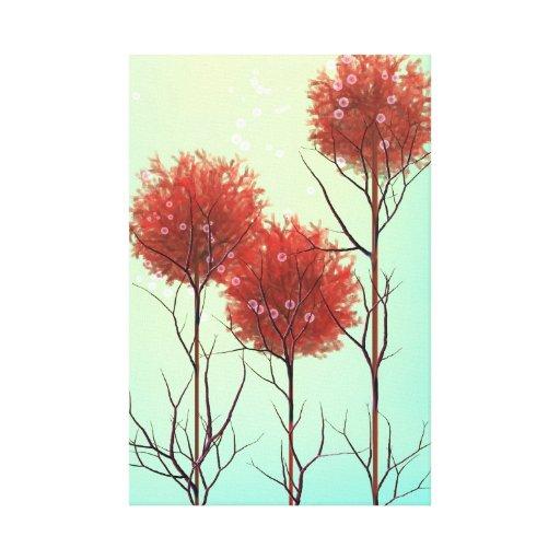 lona moderna surrealista de 24 x 36 flores lona estirada galerías