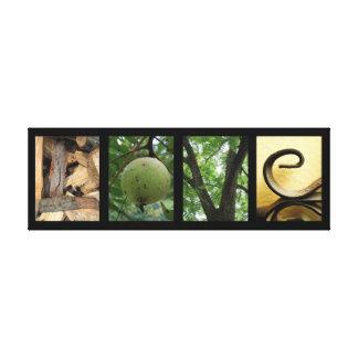 Lona montada creativa de los elementos verdes de l lona envuelta para galerías