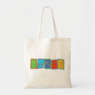 Lona multicolora Giftbag del texto del bloque del  Bolsa Tela Barata