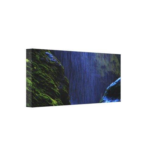 lona natural de la cascada del puente del tonto impresion de lienzo