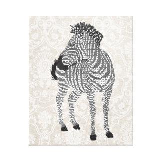 Lona negra y blanca de Zenya de arte Impresión En Lienzo Estirada