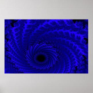 Lona o impresión azul de arte de la galaxia del An