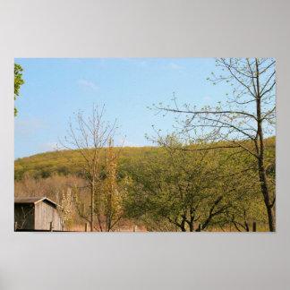 Lona o poster de la montaña de la vinatera