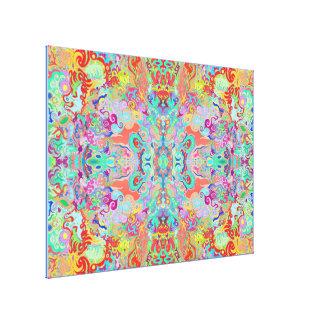Lona óptima multicolora del fractal del compás impresión en lienzo