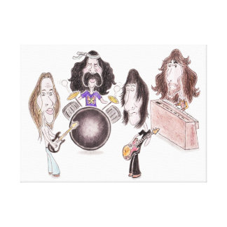 Lona psicodélica de la caricatura del rock progres impresión en lona estirada