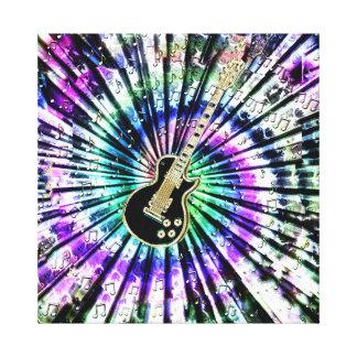 Lona psicodélica de la guitarra del teñido anudado lona estirada galerías
