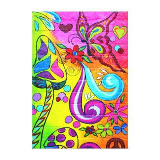 lona psicodélica de la mariposa del hippie de los